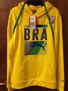 5d5010bfb210 PUMA Big Boys Brazil Olympic Pullover Hoodie and Carry Sack (Cyber ...