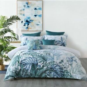 Kailua-Quilt-Cover-Set-Teal-by-Bianca-Tranquil-blue-and-teal-tones