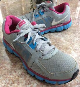 Nike Dual Fusion ST2 Women s Gray Purple Blue Running Shoes Size 10 ... 02515c0e0