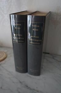 OEUVRES-ROMANESQUES-COMPLETES-OEUVRES-POETIQUES-VICTOR-HUGO-2-vol-1981-82