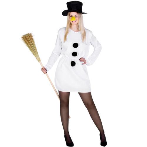 Kostüm Schneefrau Kostüm Karneval Fasching Halloween Damen Weihnachten Kleid