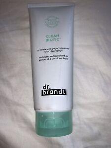 Dr Brandt Clean Biotic PH Balanced Yogurt Cleanser Chlorophyll 3.5oz FULL Size
