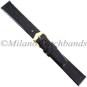 16mm-Gilden-Dark-Brown-Luxury-Flat-Genuine-Wild-Lizard-Unstitched-Mens-Band-Reg