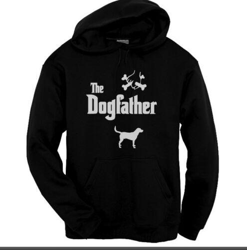 Il dogfather Labrador Felpa con Cappuccio Felpa Con Cappuccio Nero Taglie Kids a XXL
