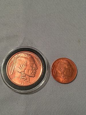 1oz & 1/4oz Indian Head .999 Fine Copper Rounds See Pics To Produce An Effect Toward Clear Vision Coins & Paper Money Other Bullion