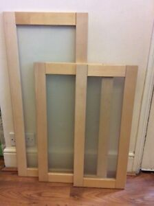 Ikea Faktum Adele Birch Kitchen Glass Doors Brand New Without Box Discontinued Ebay