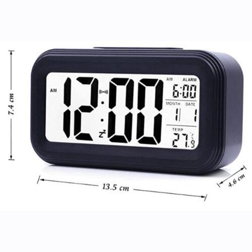 Alarm Clock LED Display Digital Alarm Clock Snooze Night Light Battery Clock
