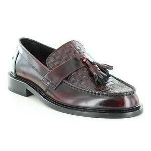 a0503e45d2fb Image is loading Ikon-Weaver-Men-Shoes-Bordo-Polished-Leather-Moccasin-