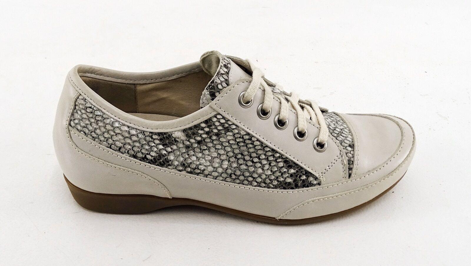 Sneaker Semler Halbschuhe 2,5 Luftpolster Schnürer Echtleder offWeiß Gr. 2,5 Halbschuhe = 35,5 3ed86e