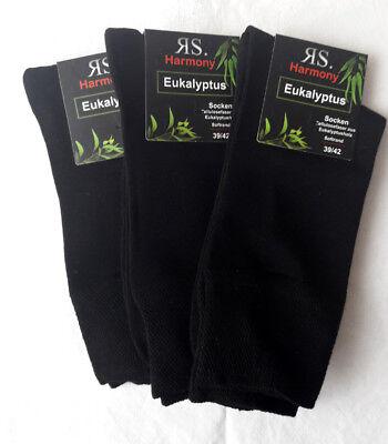 3 Paar Damen Socken Gesundheitssocken ohne Gummi mit Softrand schwarz 35 bis 42