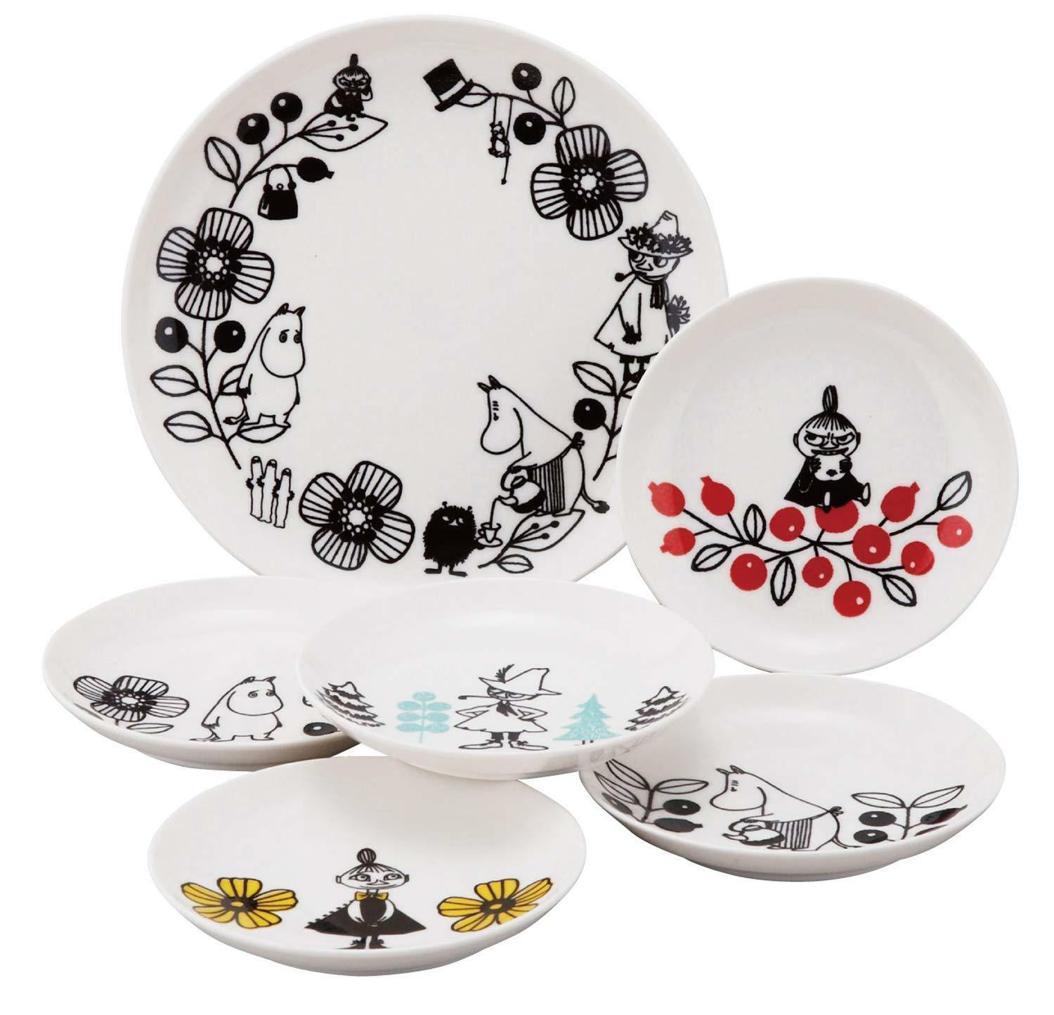 Moomin Valley Berry Set Plate 6 Pieces MM1400-52 215mm 140mm Yamaka from Japan