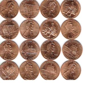 2009-Lincoln-Bicentennial-Uncirculated-All-Eight-One-Cent-P-amp-D-Set