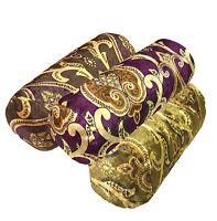 mr+3 Colors Gold Purple Shimmer Velvet Style Fabric Bolster Yoga Case Neck Roll