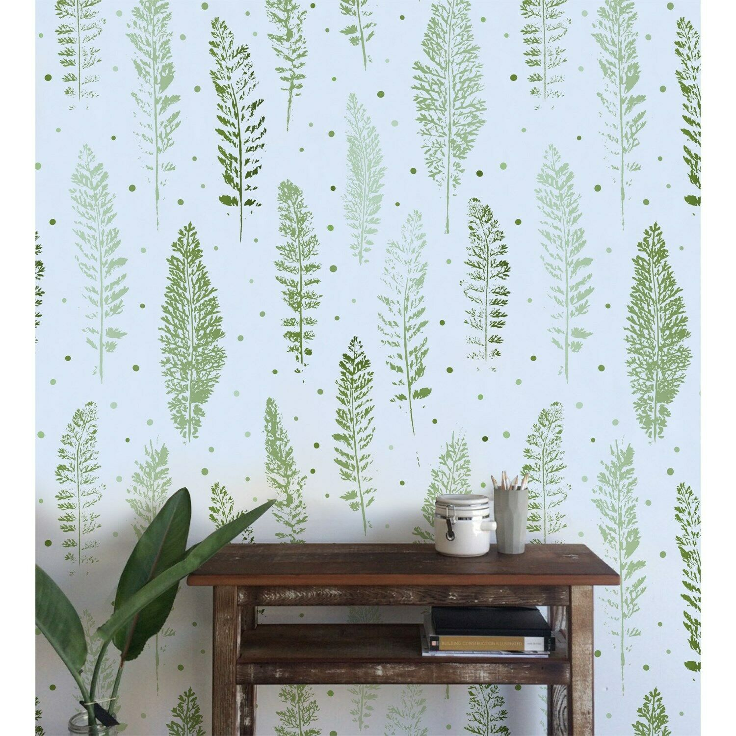 Abstract nature Non-Woven wallpaper WaterFarbe wall mural Leaves Home decor