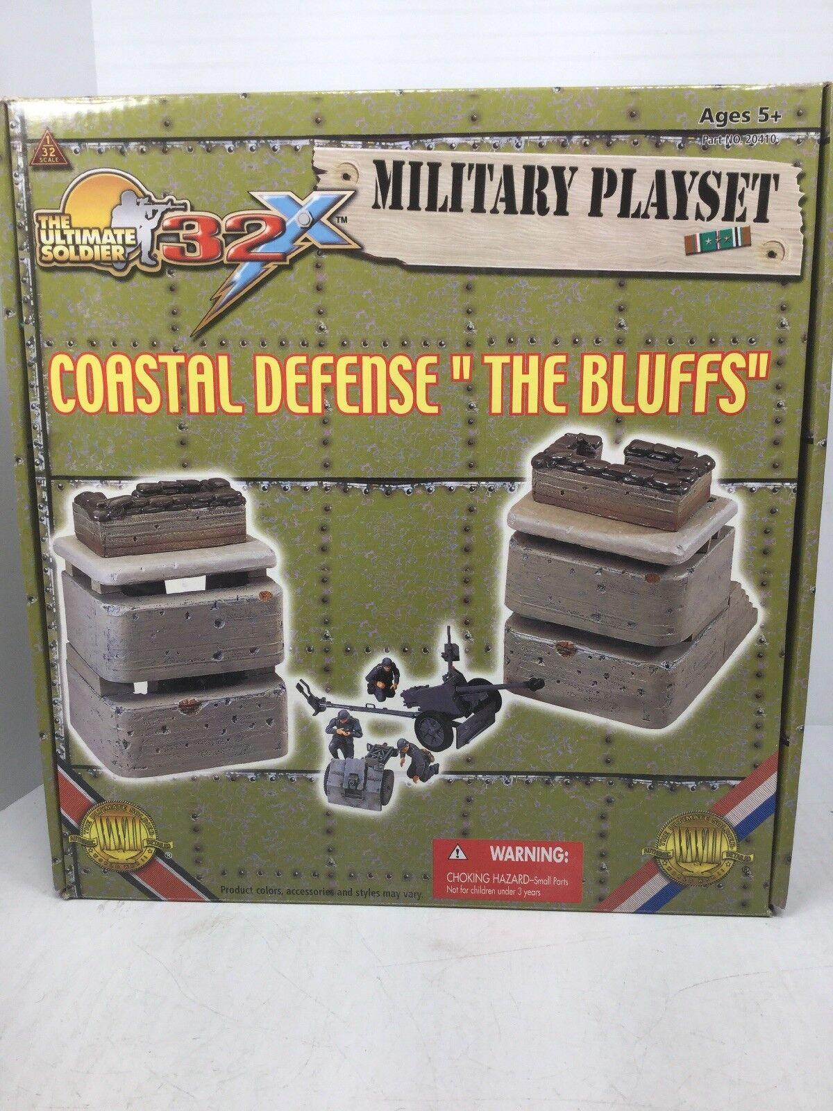 1/32 Scale Ult Soldier COASTAL DEFENSE THE BLUFFS German Playset PAK WW2 NIB