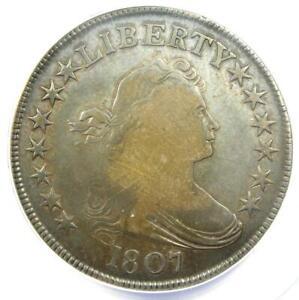 1807 Draped Bust Half Dollar 50C Coin - Certified ANACS VG8 - Rare Coin!