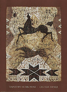 Tapestry-In-Browns-Art-Print-by-Cecilia-Henle-Horses-Native-American