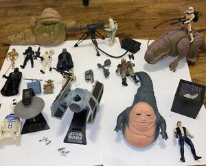 Star-Wars-POTF-Large-LOT-Kenner-Hasbro-Yoda-Vader-Mandalorian-UPS-Same-Day-Ship