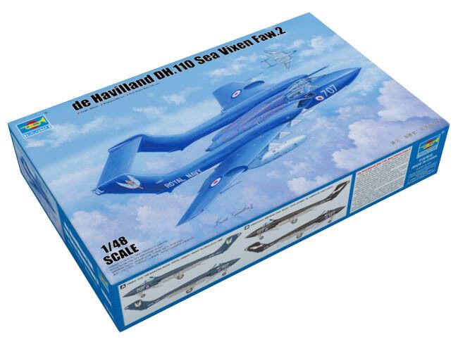 Trumpeter 9365808 de Havilland DH.110 Sea Vixen 1 48 Kampfflugzeug Modellbausatz  | Helle Farben