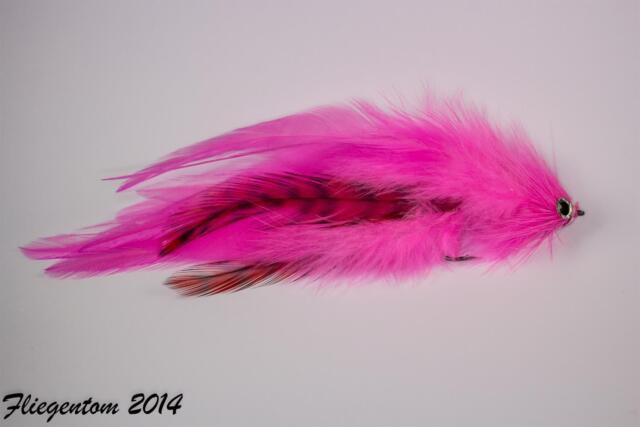 Fliegentom Streamer para el lucio y depredadores Nº 30 - pink