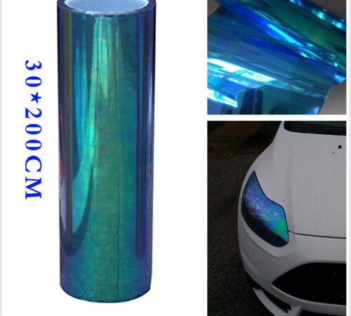 Chameleon 200x30cm Cool Blue Car Headlight Tail Fog Light Vinyl Tint Film