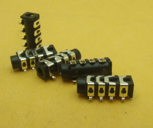 """40PCS 4-pole 8-pin SMD 1//8/"""" 3.5mm Stereo Audio Socket for Headset Headphones"""