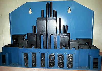 58pc. Clamping Kit for MIlling / Drilling  - 10mm T-Slots - 8mm Studs