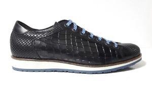 Bassa Lacci 2508b Made In Green Uomo Nero Step Scarpe Geko Sneakers Italy Pelle 0TzwqvC