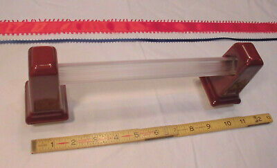"1 pair *Corallin Pink* Glossy Ceramic Towel Brackets-Post 24/"" poles   /""NOS/"""