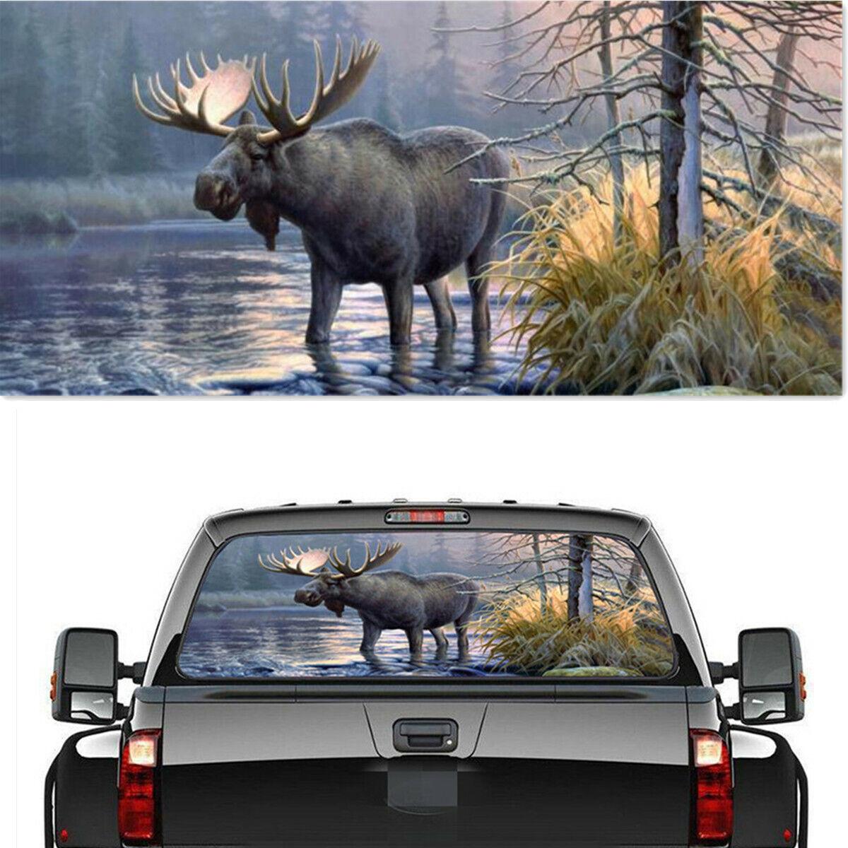 Pickup Rear Window Moose Forest Decoration Sticker Decal Waterproof 22 X 65 For Sale Online Ebay [ 1200 x 1200 Pixel ]