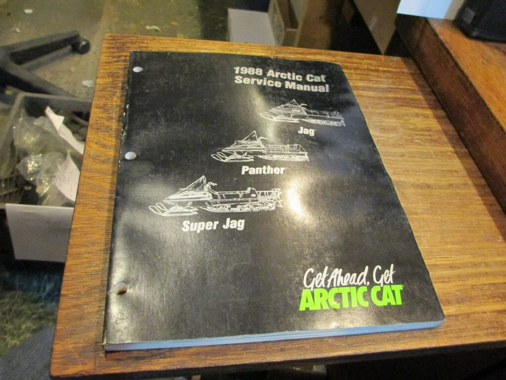 Arctic Cat Snowmobile Factory 1988 Service Manual Jag Panther Super Jag 2254-452
