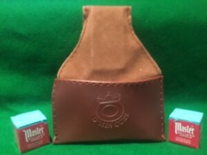 SNOOKER-POOL-BROWN-CHALK-POUCH-amp-2-BLOCKS-MASTER-CHALK-FREE-DELIVERY