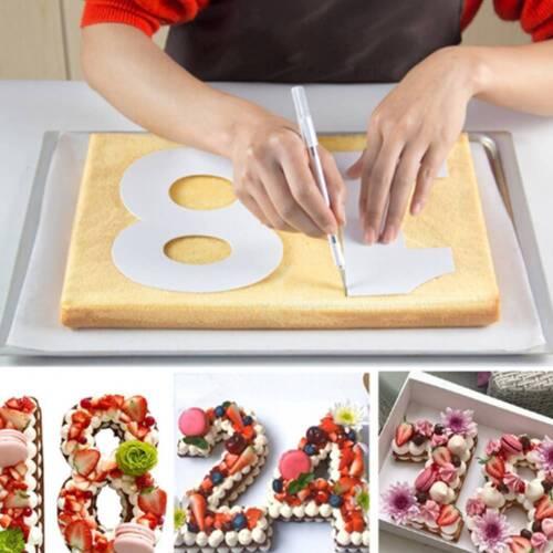 Birthday Cake Big Number Shape Mold Set Pastry Bakeware Decorating Tool