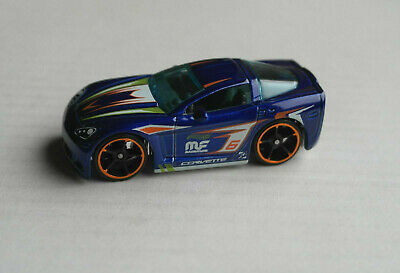 PräZise Hot Wheels Chevy Chevrolet Corvette C6 Blau Tooned Sportwagen Auto Car Hw Mattel