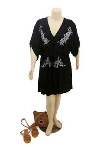 CITY-CHIC-Black-Elbow-Length-Floral-Summer-Festival-Beach-Dress-Plus-Size-L