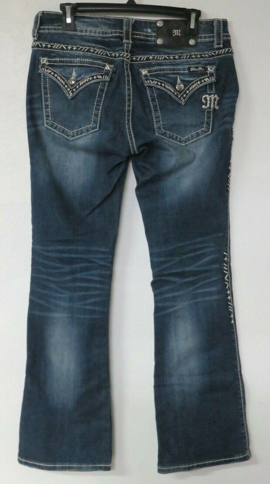Miss Me Jeans Pants bluee Size 30 x 31 Cotton Blend Je8022BR Boot Cut Style