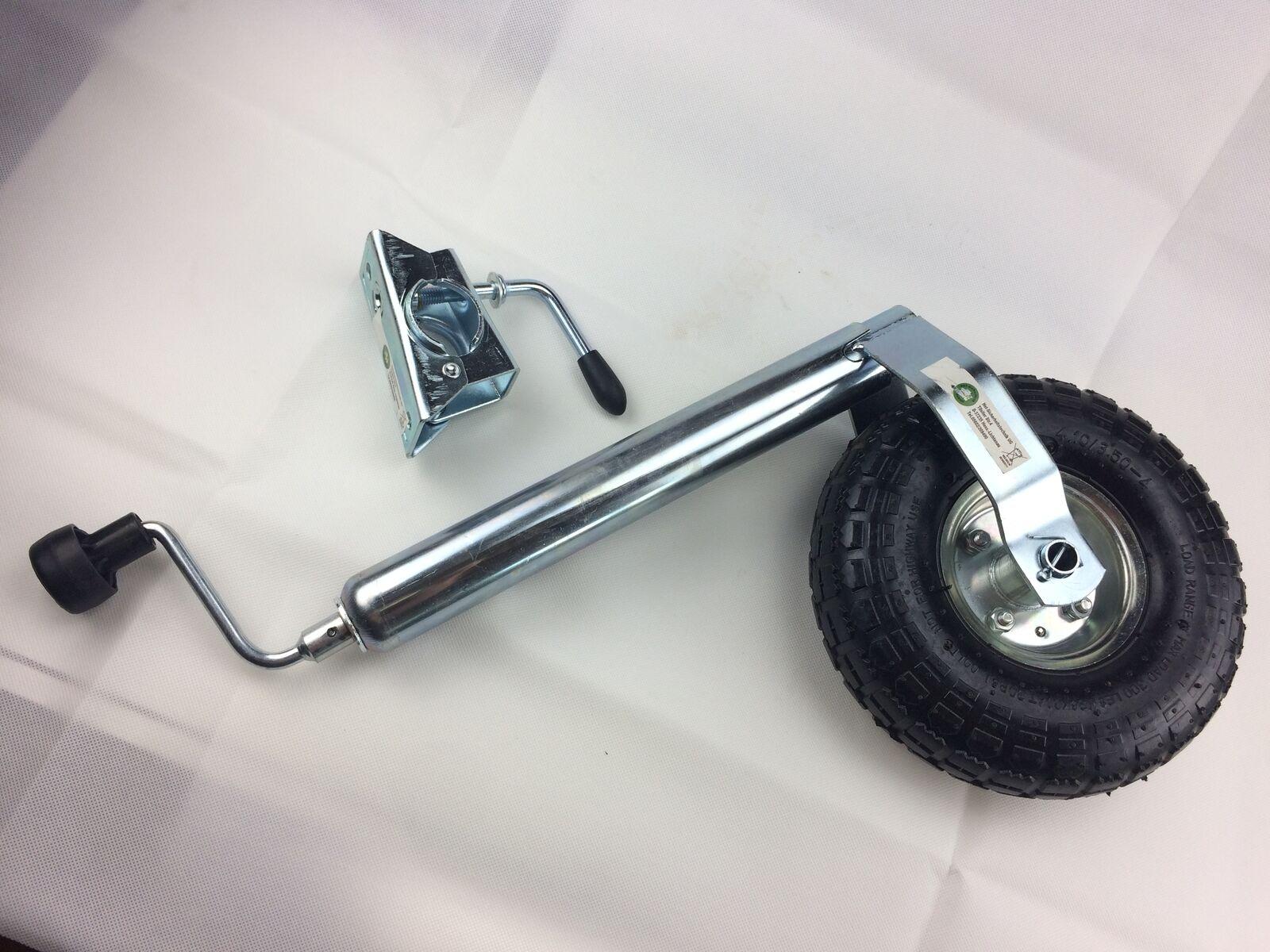 HST Stützrad Anhänger Wohnwagen Luftbereift Klemmschelle stabiles Bugrad 150 kg
