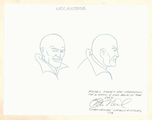Super Friends Model Sheet ReCreation Lex Luthor Portraits by Darrell McNeil