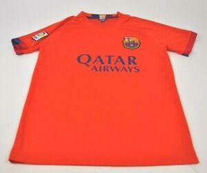 save off 2caf8 3a8af Details about FCB Orange QATAR Airways SHIRT Soccer Futbol NEYMAR JR Barca  Barcelona Sz S