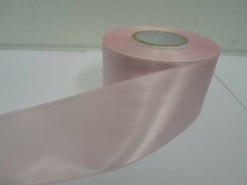 3mm 7mm 10mm 15mm 25mm 38mm 50mm BABY LIGHT PINK Satin Ribbon double sided roll