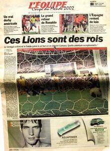 Contemplatif Cahier Spécial Coupe Du Monde De L'équipe N°17532 Du 17 Juin 2002 - Football