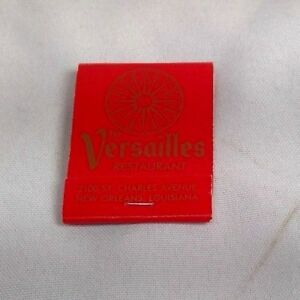 Details About The Versailles Restaurant Matchbook Red New Orleans Louisiana Gold Lettering