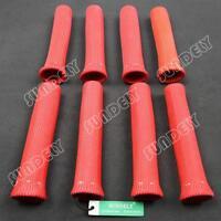 Red Spark Plug Wire Boot Heat Shield Insulator 8-pcs