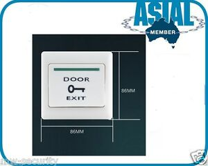 36V  Door Release Button Push to Exit 86x86 Auto Reset NO//COM Bell Pattern