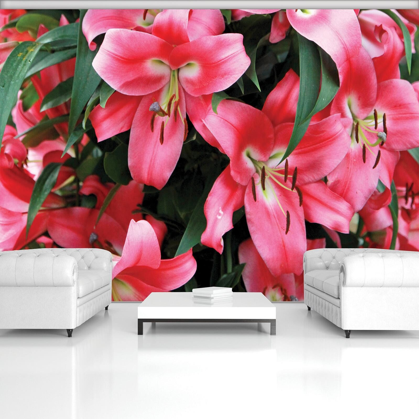 Photo Wallpaper Mural  20027_P Red Lilies Nature Flowers Plant Flower Lily Red G