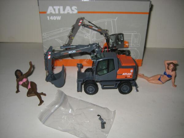 Atlas 140 W Escavatore Profondamente Cucchiaio Mobil #697 Nzg 1:50 Ovp