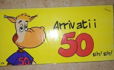 Biglietto Di Auguri 50 Anni Buon Compleanno Colorati Con Frase Simpatici Ebay