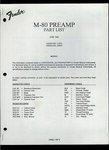 Details about Rare Original Fender M-80 Preamp Guitar Amplifier Amp on