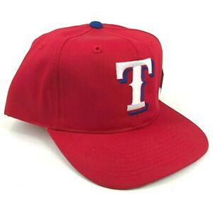 Vintage-Texas-Rangers-Outdoor-Cap-Co-Youth-Talla-Gorra-Plana-Rojo-Blanco-Logo
