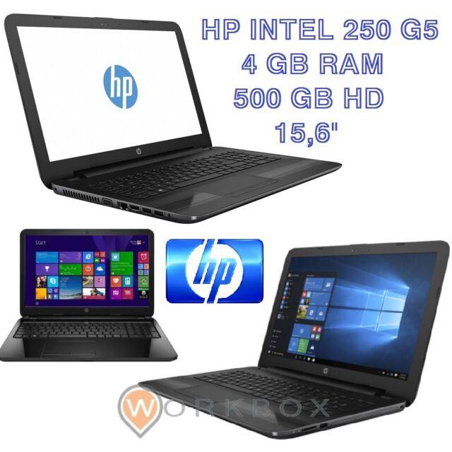"NOTEBOOK HP 250 G5 W4M72EA 15,6"" N3060 HD 500GB 4GB WINDOWS 10 HOME 64 PORTATILE"